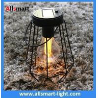 Buy cheap Portable Black Iron Metal Edison Solar Bulbs with Hanging Handle for Tree Terrace Dining Table Outside Desk Decoration from wholesalers