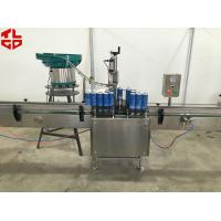 Quality Stainless Steel Aerosol Spray Paint Filling Machine For Sanitizer Disinfector Spray for sale