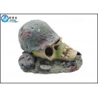 Wholesale Air Operated Skull Fish Tank Ornaments , Aqua Resin Ornaments For Decorating from china suppliers