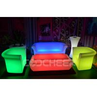 Wholesale Night Club Led Lounge Furniture Multi Color Lighting Sofa PE Eco friendly from china suppliers