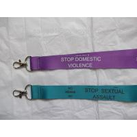 Sublimation transfer print lanyards