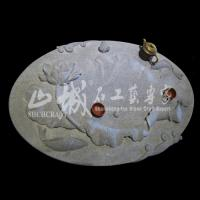 Wholesale Natural Stone(Granite) Green Color Tea Tray from china suppliers