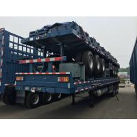 Wholesale 3axles 40tons flat bed/skeleton container semi trailer for exporting sale from china suppliers