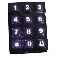 Public security door phone metal keypad with 12 key and white backlight, dot matrix keypad for sale
