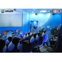Wholesale Amusement Park Animatiom 4D Movie Theater With Black Leather Pneumatic Seats from china suppliers