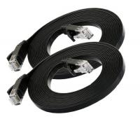 Buy cheap Black 1M Cat6 Flat Patch Cord UTP Ethernet category 6 Flat Patch Cable from wholesalers