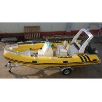 Coast Guard Rigid Bottom Inflatable Boats Center Console Yellow 1.2mm PVC