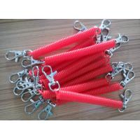 Wholesale Custom Rose Color 2.5x12x120mm Plastic Spring Key Coil w/Trigger Hooks on Both Ends from china suppliers