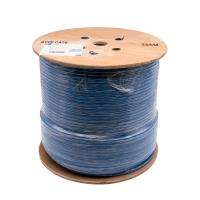 Wholesale WONTERM cat6 SFTP lan cable 100% copper Blue PVC fluke test AL Braid shield from china suppliers