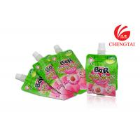 Wholesale Resealable Fruit Juice Stand Up Pouch With Spout / Small Spout Pouch from china suppliers