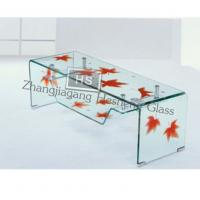 Wholesale 10MM printing tempered TV Stand glass from china suppliers