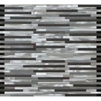 Wholesale White black linear mosaic metal no gap pattern for wall and boarder decoration from china suppliers