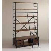 Wholesale Four Layers Adjustable Metal Book Shelf Antique Eco - Friendly With Ladder from china suppliers