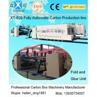 Wholesale Automatic Box Folder GLuer Carton Manufacturing Machine With Printing Slotting Inline from china suppliers