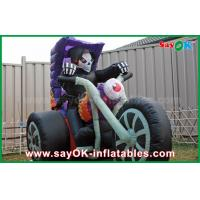 Wholesale Black Oxford Cloth Halloween Yard Inflatable Decorations Motorcycle Inflatable Shape from china suppliers