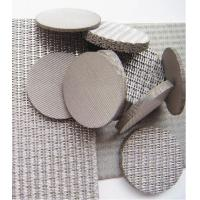 Stainless Steel Sintered Filter Element / Filter Wire Mesh For Air, Liquid Filtration