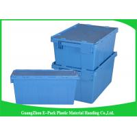 Wholesale 60L Plastic Attached Lid Containers Heavy Duty Stackable Moving 600 * 400 * 365mm from china suppliers