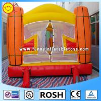 Wholesale 0.55mm PVC Tarpaulin Inflatable Sports Games Orange / Yellow from china suppliers