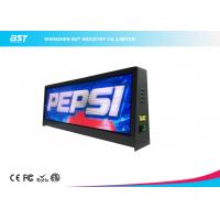 Wholesale Full Color P5mm Taxi top LED Display With Large Viewing Angle , Led Taxi Roof Signs from china suppliers