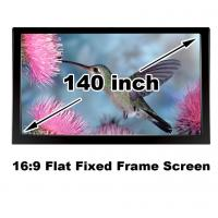 Quality Clear Picture HD Projector Screen 140 Inch Flat Fixed Frame 3D Projection Screens 16:9 for sale