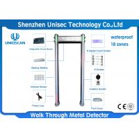 Wholesale Outdoor Multi Zone Metal Detector Metal Detector Walk Through With Small LCD Display from china suppliers