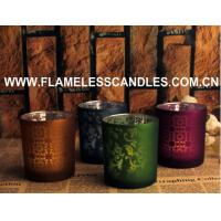 Wholesale Flameless LED Glass Votive Candles With Wax And Built-in Tealight for Home Decoration from china suppliers