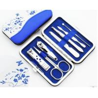 Blue and White Porcelain Manicure Nails Set Beauty Nail Tool Kits