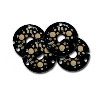 Wholesale Round rgb led pcb Board with Black Solder Mask , SMD LED PCB from china suppliers