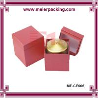 Wholesale Candle box with 2mm grey paper+157g coated paper/Custom candle box matte finished ME-CE006 from china suppliers