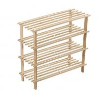 Wholesale Sturdy Free Standing Shoe Rack , 2 / 3 / 4 Tiers Horizontal Shoe Organizer from china suppliers