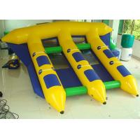 Wholesale Exciting 4m * 3m Inflatable Flying Fish , Inflatable Banana Boat  With Professional Trampoline Fabric from china suppliers