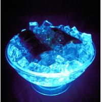 Wholesale GPPS + ABS rechargeable clear led ice bucket D31.5 * D17.0 * H18.0CM for beer, bar, party from china suppliers