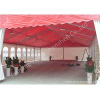 Wholesale Red Roof White Wall PVC Cover Outdoor Party Tents Transparent PVC Fabric Windows from china suppliers