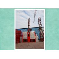 Quality Passenger Material Construction Hoist Equipment With Fall To Automatic Braking for sale