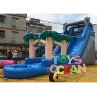 Wholesale PVC Summer Palm Tree Inflatable Pool Slides Water Inflatable Slide For Fun from china suppliers
