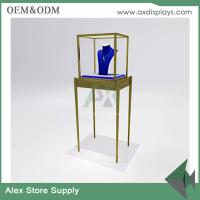 Quality Jewelry shop showcase wooden furniture showcase China supplier glass display cabinet for sale
