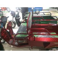Quality Red / Green / Golden 48V 650W Open Electric Cargo Trike With Driver Ceiling for sale