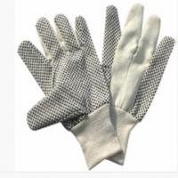 Wholesale XL OEM Poly / Cotton Hand Gloves with Black PVC Dots Palm for Automotive Manufacturing from china suppliers