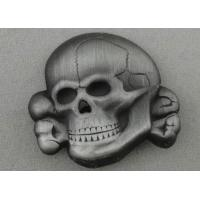 Wholesale Antique Silver Plating Skull Souvenir Badges Brass Stamped With Brooch Pin from china suppliers