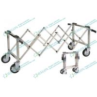 Quality Stainless Steel Funeral Equipment , Church Coffin Trolley with Handles for sale
