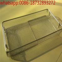 Wholesale customize stainless steel 304 needle cleaning basket / disinfection baskets with cover/stainless steel medical basket from china suppliers