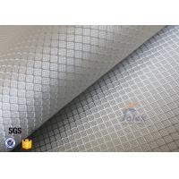 Quality 220g Silver Plated Aluminized Fiberglass Cloth Fabric For Surface Decoration for sale