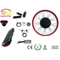 Wholesale High Power Fat Tire Ebike Conversion Kit , Black Diy Electric Bike Kit from china suppliers