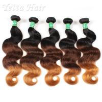Wholesale Real Indian 7A  Virgin Hair Weave / Three Tone  Hair Extensions Without Chemical from china suppliers