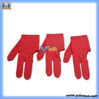 Wholesale 5 Red Billiards Pool Snooker Cue Shooters 3 Fingers Gloves-J7413re from china suppliers