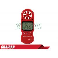 Wholesale Red 8 In 1 Anemometer Wind Speed Meter / TL-302 humdity Tester Beaufort Scale from china suppliers