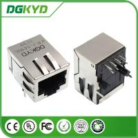 Wholesale Front Pin integrated Magnetics RJ45 Modular Jack with Copper Alloy Shell Tab Down from china suppliers