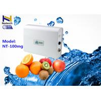Wholesale 100mg Fruit Vegetable Odor Free Ozone Generator 110V Water Air Sterilizer Ozonizer from china suppliers