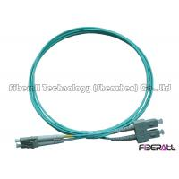 Wholesale High Speed Multimode OM3 Fiber Patch Cables , Aqua Fiber Patch Cord 1300nm from china suppliers