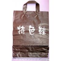 Wholesale Brown Printed Packaging Soft Loop Handle Bags for Shoes , Grocery , Apparels from china suppliers